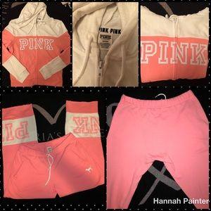 Victoria's Secret PINK matching sweatsuit. NWOT.